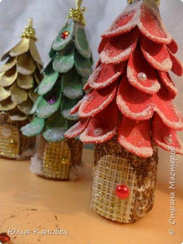 Мастер-класс Новый год Моделирование конструирование Новогодние ёлочки-домики фото 21