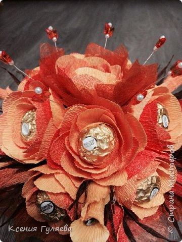 Осенняя корзинка с попыткой сделать розы, по всем мастер классам, которые смогла найти))  итог: розы на розы не похожи, но и ни на один цветочек из всех мастер классов тоже не похоже)))  ну уж что получилось то получилось фото 6