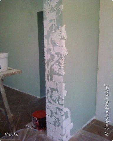 Вот такой декор стены.Сам рисунок получается объемным. фото 3