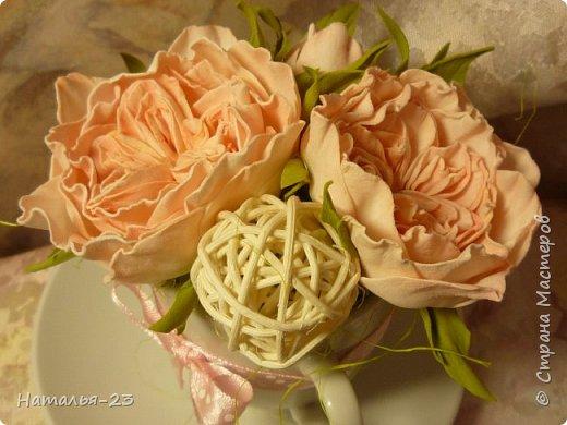 Добрый вечер, мастерицы! Мои новые цветочки из фома.  Розы делала по мк  Анечки Даньковой, тонировала  пастелью по мк Светланы flower. Спасибо, кто заглянул, творческих успехов...  фото 2