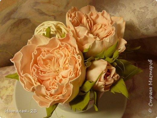 Добрый вечер, мастерицы! Мои новые цветочки из фома.  Розы делала по мк  Анечки Даньковой, тонировала  пастелью по мк Светланы flower. Спасибо, кто заглянул, творческих успехов...  фото 3
