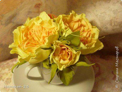 Добрый вечер, мастерицы! Мои новые цветочки из фома.  Розы делала по мк  Анечки Даньковой, тонировала  пастелью по мк Светланы flower. Спасибо, кто заглянул, творческих успехов...  фото 5