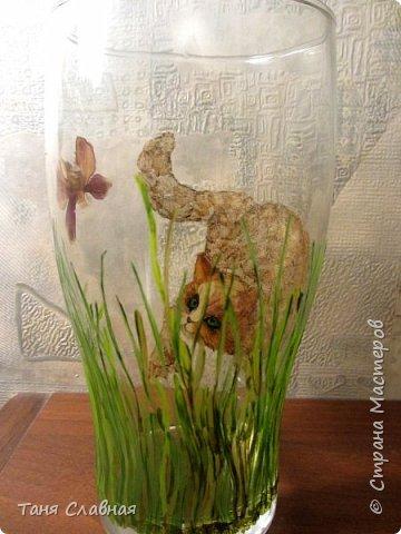 Декор предметов Мастер-класс Аппликация Рисование и живопись Рисунок лепестками цветов аппликация на стекле Клей Краска Листья Материал природный фото 18