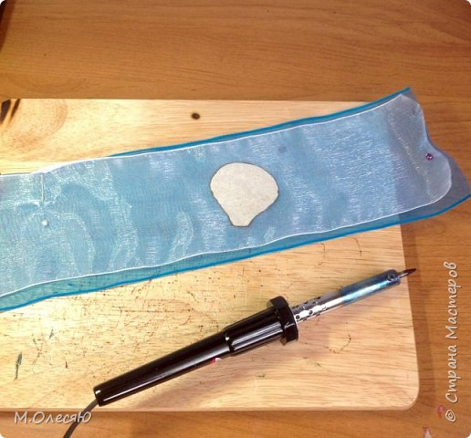 Розочка из капроновых лент фото 3