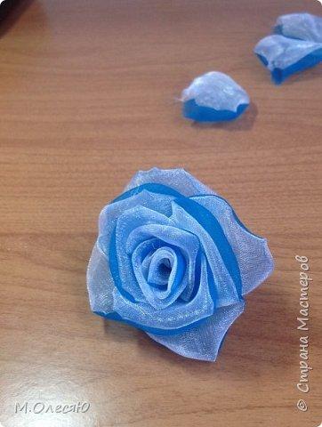 Розочка из капроновых лент фото 20