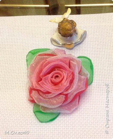 Розочка из капроновых лент фото 1