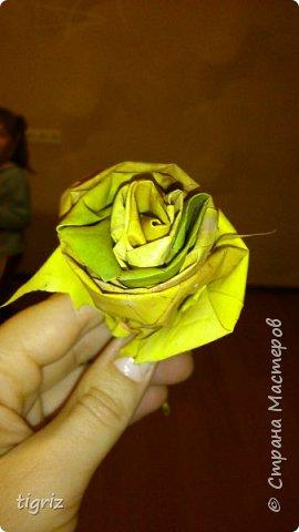 Осень. Вот и начало бабьего лета, и в преддверие Дня Учителя - выставка. И вот такие розы из кленовых листьев.  фото 3
