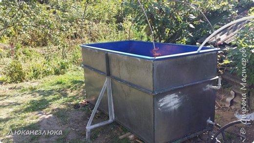Так как экология оставляет желать лучшего, муж сварил малому бассейн размерами 2000х1000х1000мм. Купались до последнего, пока позволяла погода. фото 1
