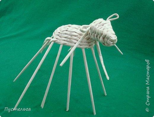 Мастер-класс Поделка изделие Плетение Овечка Бумага Трубочки бумажные фото 20