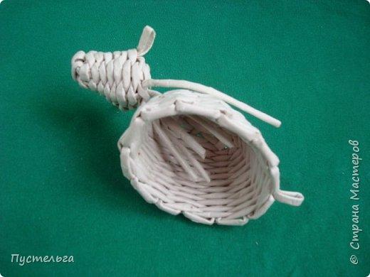 Мастер-класс Поделка изделие Плетение Овечка Бумага Трубочки бумажные фото 22