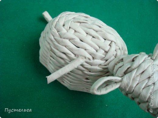 Мастер-класс Поделка изделие Плетение Овечка Бумага Трубочки бумажные фото 23