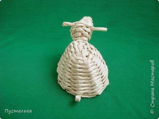 Мастер-класс Поделка изделие Плетение Овечка Бумага Трубочки бумажные фото 25