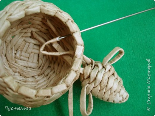 Мастер-класс Поделка изделие Плетение Овечка Бумага Трубочки бумажные фото 29