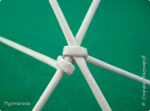 Мастер-класс Поделка изделие Плетение Овечка Бумага Трубочки бумажные фото 5