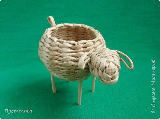 Мастер-класс Поделка изделие Плетение Овечка Бумага Трубочки бумажные фото 30