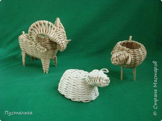 Мастер-класс Поделка изделие Плетение Овечка Бумага Трубочки бумажные фото 31