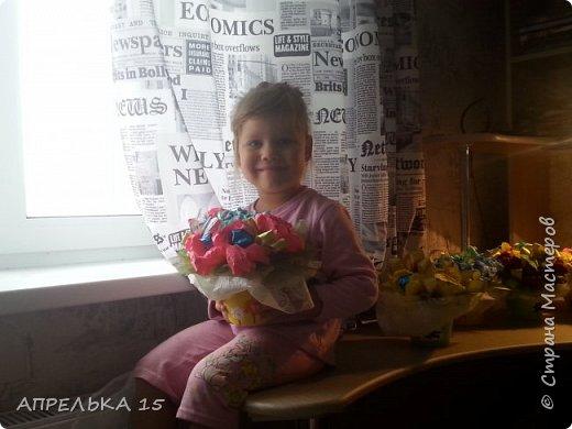 Букеты из конфет для учителей фото 1
