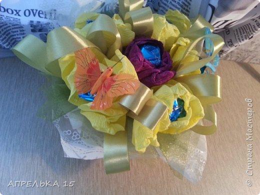 Букеты из конфет для учителей фото 4