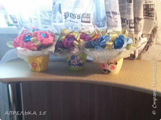 Букеты из конфет для учителей фото 5