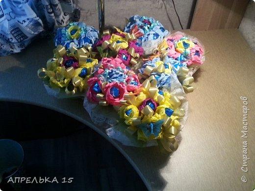 Букеты из конфет для учителей фото 6