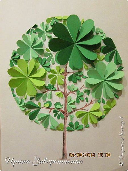 Деревья и цветы из бумаги