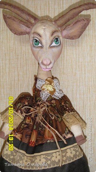 Куклы Мастер-класс Шитьё Козочка-Гламурка пакетница Ткань фото 24