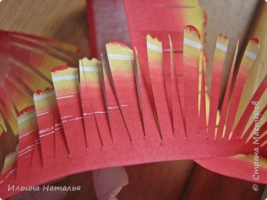 Мастер-класс День учителя Квиллинг Квиллинг-цветочек с карандашиком Бумага Карандаш Клей Краска фото 16