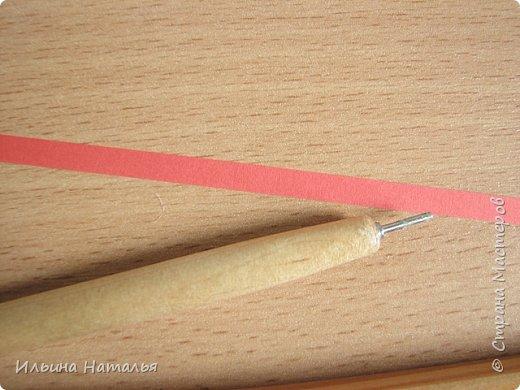 Мастер-класс День учителя Квиллинг Квиллинг-цветочек с карандашиком Бумага Карандаш Клей Краска фото 17