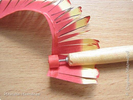 Мастер-класс День учителя Квиллинг Квиллинг-цветочек с карандашиком Бумага Карандаш Клей Краска фото 20