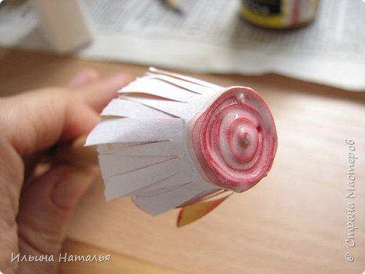 Мастер-класс День учителя Квиллинг Квиллинг-цветочек с карандашиком Бумага Карандаш Клей Краска фото 24
