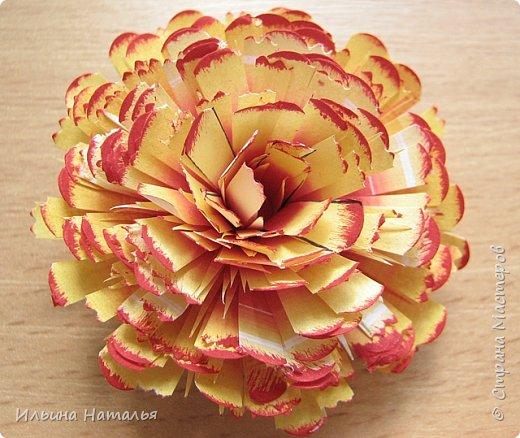 Мастер-класс День учителя Квиллинг Квиллинг-цветочек с карандашиком Бумага Карандаш Клей Краска фото 27