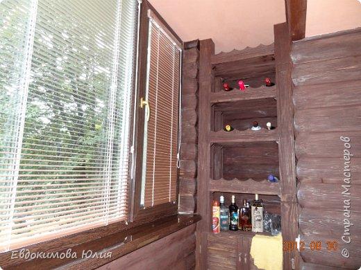 Украшала бутылку текилы в подарок другу семьи. У них из балкона сделана барная стойка и это домик отлично вписался в интерьр (фото бара прилагается)))) фото 3