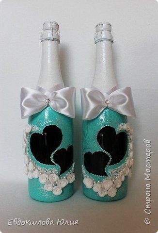 Выставляю на ваш суд мой второй опыт в окрашивание бутылок, первый в росписе и лепке из полимерной глины!!!! фото 2