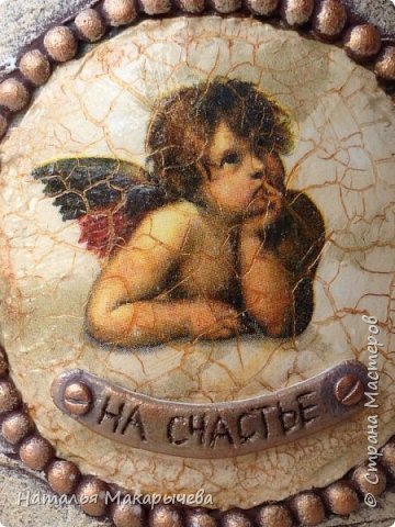 Декор предметов Мастер-класс Декупаж Лепка Бутылочка Ангел на счастье винтаж Бумага Клей Краска Крупа фото 1