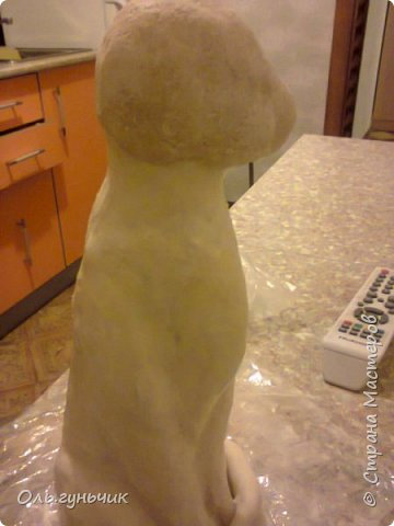 Мастер-класс Поделка изделие Лепка Мукосольная кошка МК Тесто соленое Шпагат фото 16