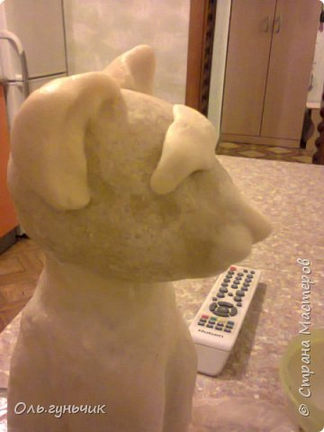 Мастер-класс Поделка изделие Лепка Мукосольная кошка МК Тесто соленое Шпагат фото 22