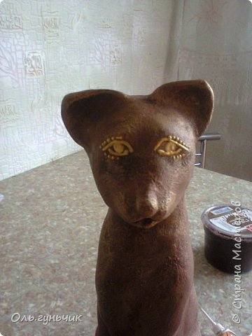 Мастер-класс Поделка изделие Лепка Мукосольная кошка МК Тесто соленое Шпагат фото 32