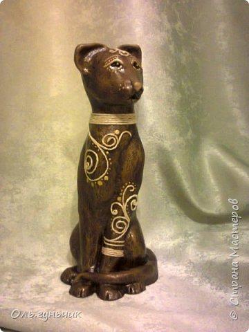 Мастер-класс Поделка изделие Лепка Мукосольная кошка МК Тесто соленое Шпагат фото 36