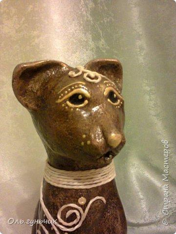 Мастер-класс Поделка изделие Лепка Мукосольная кошка МК Тесто соленое Шпагат фото 43