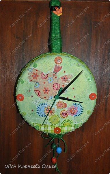 Часы из старой сковородки 53