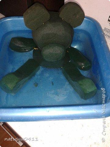 Мастер-класс Флористика 8 марта День рождения Моделирование конструирование Мишка из живых цветов  Материал природный фото 10