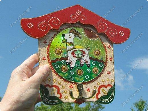 Картина панно рисунок Новый год Витраж Роспись Сказочные козлики и барашки Витражная роспись Дерево Диски компьютерные Краска фото 13