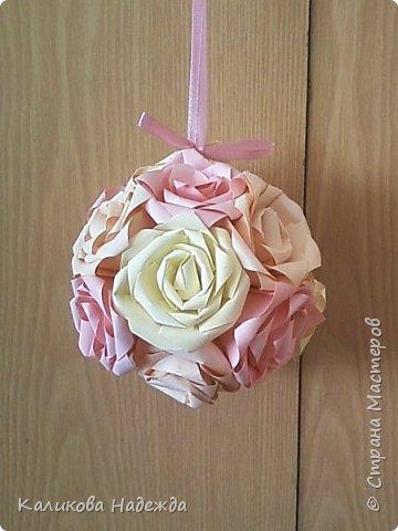 Мастер-класс Поделка изделие Оригами Роза из 15 квадратов Бумага фото 23