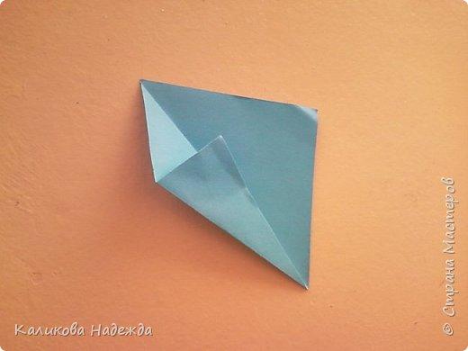 Мастер-класс Поделка изделие Оригами Роза из 15 квадратов Бумага фото 3