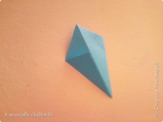 Мастер-класс Поделка изделие Оригами Роза из 15 квадратов Бумага фото 4