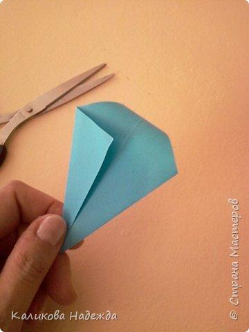 Мастер-класс Поделка изделие Оригами Роза из 15 квадратов Бумага фото 5