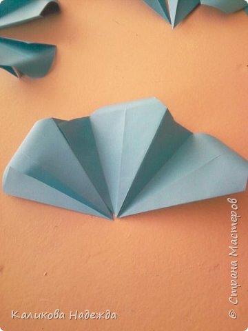 Мастер-класс Поделка изделие Оригами Роза из 15 квадратов Бумага фото 7