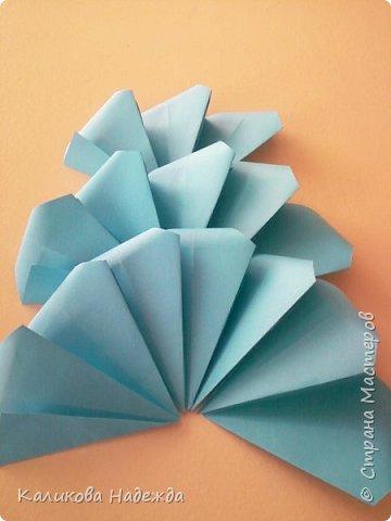 Мастер-класс Поделка изделие Оригами Роза из 15 квадратов Бумага фото 9