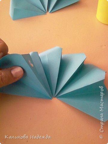 Мастер-класс Поделка изделие Оригами Роза из 15 квадратов Бумага фото 10
