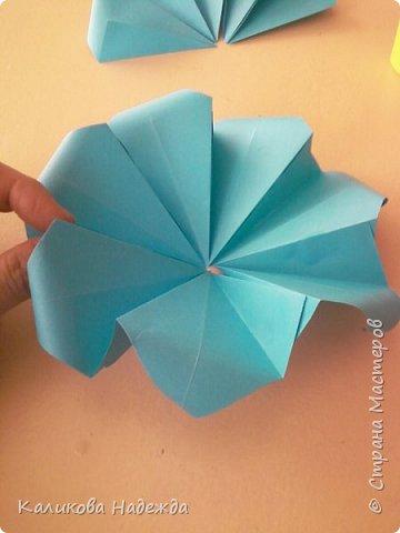 Мастер-класс Поделка изделие Оригами Роза из 15 квадратов Бумага фото 11